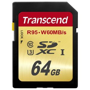 SDXCカード 64GB Class10 UHS-I U3対応 U3シリーズ TS64GSDU3 トランセンド Transcend社製 ネコポス対応|esupply