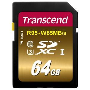 SDXCカード 64GB Class10 UHS-I U3対応 U3xシリーズ TS64GSDU3X Transcend社製 トランセンド ネコポス非対応|esupply