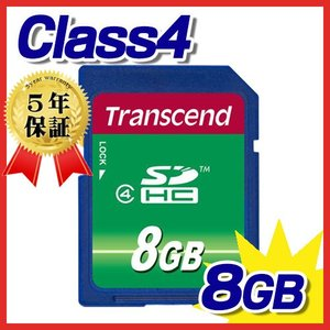 SDHCカード 8GB class4 TS8GSDHC4 トランセンド Transcend ネコポス対応|esupply