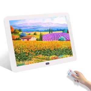 デジタルフレーム8インチフルHD IPSスクリーン、HDデジタルフォトフレームMP3 MP4オーディ...