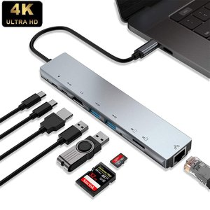 USB C ハブ 8in1 Type-C HUBマルチ変換アダプター 87WPD出力対応 /USB-...
