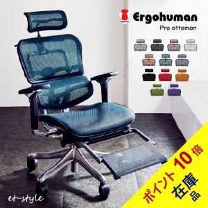 エルゴヒューマン プロ オットマン内臓 ハイタイプ EHP-LPL ハイバック Ergohumn Pro パーソナルチェア et-style