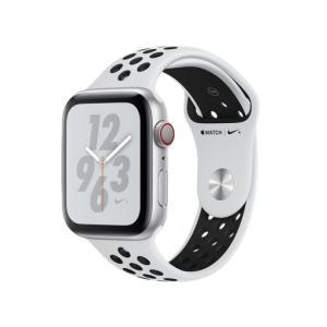 Apple Watch Nike+ Series 4 GPS+Cellularモデル 44mm MTXK2J/A [ピュアプラチナム/ブラックNikeスポーツバンド][新品][送料無料] et8