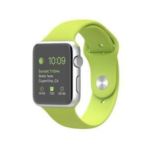 Apple Watch Sport 42mm MJ3P2J/A [グリーンスポーツバンド] Retinaディスプレイを搭載した腕時計型のスマートデバイス 新品 et8