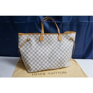 Louis Vuitton/LV/ダミエ アズール/ネヴァーフルMM/N51107/中古美品ランクAB送料無料|et8