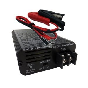 CH-1205 未来舎(POWERTITE) 小型バッテリー充電器 (オプション:わにぐち付きケーブル付属) etech