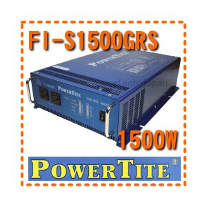 FI-S1500GRS 未来舎(POWERTITE) 正弦波インバーター 電源電圧:12V 周波数:50Hz|etech