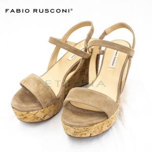 ファビオルスコーニ Fabio Rusconi レディース ウェッジソール サンダル ライトブラウン ベージュ スエード イタリア製 インポート LIZY541|eterna