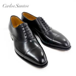 【Carlos Santos カルロス サントス】  ストレートチップ ドレスシューズ ビジネスシューズ  イタリア製 italy インポート 本革  ブラック 8627|eterna