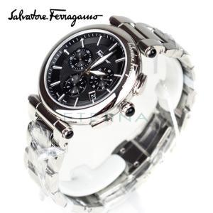 9176d42e65 【並行輸入品】 Salvatore Ferragamo サルヴァトーレ フェラガモ クロノグラフ クオーツ 腕時計 FCP070017+ ブラック  メンズ