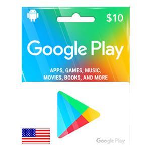 【メール通知】Google Play ギフトコード カード 10ドル US 北米 アメリカ