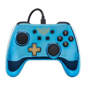 Nintendo Switch ニンテンドースイッチ コントローラー ゼルダの伝説 ブルー クロムメ...