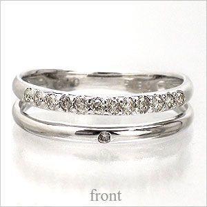 ダイヤモンド リング ピンキー リング プラチナ900 pt900 小指 指輪 ダイヤリング 1号〜 レディース アクセサリー|eternally
