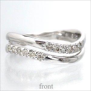 ピンキーリング ダイヤモンド 小指 指輪 ダイヤ 0.1ct リング k18ゴールド 18金 1号〜 レディース アクセサリー|eternally