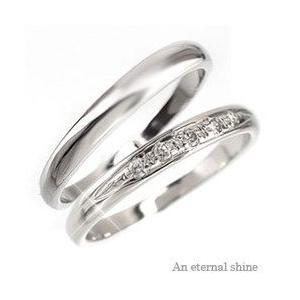 結婚指輪 ペアリング 2本セット ダイヤモンド ブライダル マリッジリング k18ゴールド 18金 人気 レディース|eternally