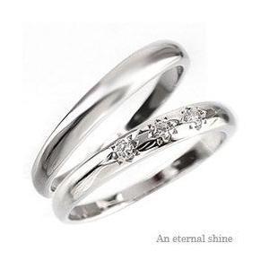 結婚指輪 ペアリング 2本セット ダイヤモンド マリッジリング k18ゴールド 18金 人気 レディース アクセサリー|eternally