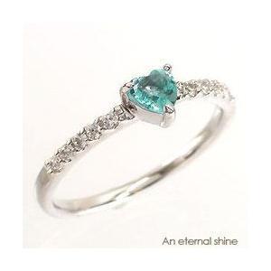 ブルートパーズ ダイヤモンド リング ハート プラチナ900 pt900 指輪 一粒 ハートシェイプ ピンキーリング レディース|eternally