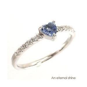 タンザナイト 12月誕生石 ダイヤモンド ハート プラチナ900 pt900 リング 指輪 一粒 ハートシェイプ ピンキーリング レディース|eternally