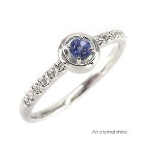 ピンキーリング ダイヤモンド タンザナイト プラチナ900 pt900 指輪 一粒 レディース ジュエリー アクセサリー|eternally
