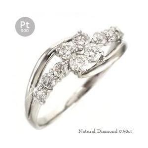 ダイヤモンド リング プラチナ900 pt900 ダイヤ 0.5ct 指輪 テンダイヤモンド フラワー レディース アクセサリー|eternally