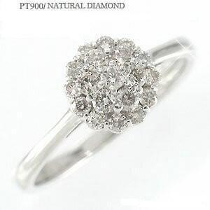 ダイヤモンド リング フラワー ダイヤ 0.3ct パヴェ リング 指輪 プラチナ900 pt900 レディース ジュエリー アクセサリー|eternally