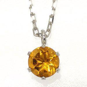 シトリントパーズ 11月誕生石 一粒 ネックレス カラーストーン k18ゴールド 18金 レディース ジュエリー アクセサリー|eternally