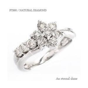 指輪 ダイヤモンド リング プラチナ900 pt900 0.5ct テンダイヤモンド フラワー レディース ジュエリー アクセサリー|eternally