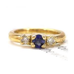 ベビーリング 9月誕生石 天然サファイヤ k18イエローゴールド 天然ダイヤモンド レディース ジュエリー アクセサリー|eternally