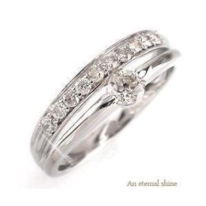 ピンキーリング ダイヤリング 指輪 ダイヤモンド 0.25ct プラチナ900 pt900 レディース ジュエリー アクセサリー|eternally