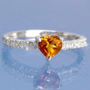 シトリントパーズ ダイヤモンド 0.25ct 指輪 エタニティリング k18ホワイトゴールド 18金 レディース アクセサリー|eternally