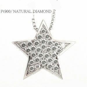 ダイヤモンド ネックレス スター 星 ネックレス ダイヤ ペンダント プラチナ900 pt900 レディース アクセサリー eternally