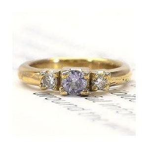 ベビーリング タンザナイト 12月誕生石 k18イエローゴールド ダイヤモンド レディース ジュエリー アクセサリー|eternally