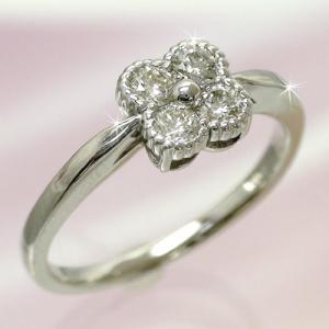 ダイヤリング フラワーリング 0.3ct プラチナ900 リング 指輪 pt900 レディース ジュエリー アクセサリー|eternally
