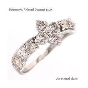 指輪 ダイヤモンド プラチナ900 リング pt900 1ct テンダイヤモンド フラワー レディース ジュエリー アクセサリー|eternally