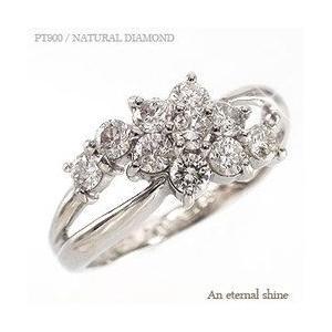 ダイヤモンド リング プラチナ900 pt900 0.5ct 指輪 テンダイヤモンド ダイヤ フラワー レディース ジュエリー アクセサリー|eternally