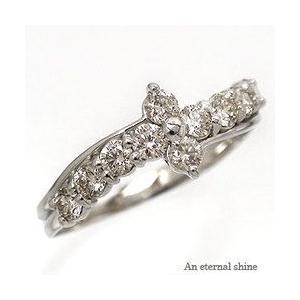 ダイヤモンド リング プラチナ900 pt900 0.5ct 指輪 テンダイヤモンド フラワー レディース ジュエリー アクセサリー|eternally