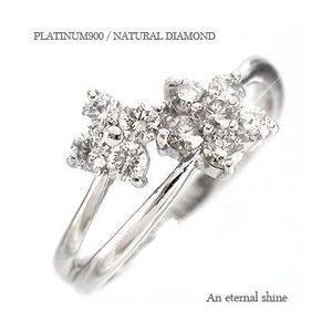 ダイヤモンド リング プラチナ900 pt900 0.5ct 指輪 テンダイヤモンド フラワー レディース アクセサリー|eternally