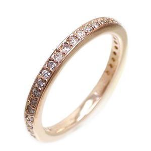 フルエタニティリング ダイヤモンド 0.36ct ダイヤ リング 指輪 サイズ14号 K18ピンクゴールド 18金 レディース