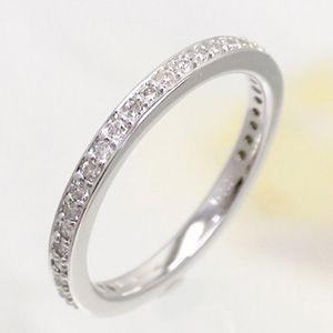 フルエタニティリング ダイヤモンド リング ダイヤ 0.38ct 指輪 サイズ17号 K18ホワイトゴールド 18金 レディース