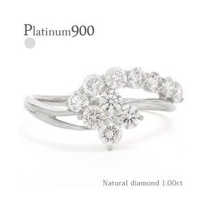 ダイヤモンド リング 指輪 ダイヤ 1ct フラワー 花 プラチナ900 pt900 レディース ジュエリー アクセサリー|eternally