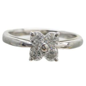 指輪 ダイヤリング ダイヤモンド 0.5ct pt900 フラワー レディース ジュエリー アクセサリー|eternally