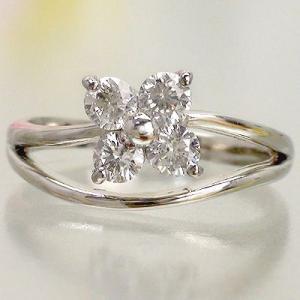 指輪 ダイヤリング ダイヤモンド 0.5ct pt900 フラワーモチーフ レディース ジュエリー アクセサリー|eternally