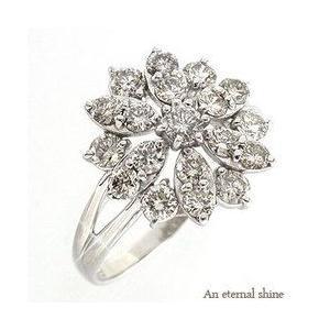 ダイヤモンド リング フラワー リング ダイヤ プラチナ900 pt900 ダイヤモンド1ct 花 リング 指輪 レディース アクセサリー|eternally