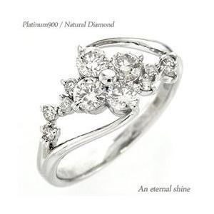 フラワー ダイヤモンド リング ダイヤモンド 0.5ct 花 プラチナ900 pt900 指輪 レディース ジュエリー アクセサリー|eternally
