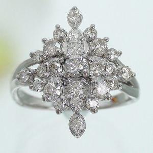 指輪 ダイヤモンド ダイヤ 1ct プラチナ900 pt900 フラワー リング レディース ジュエリー アクセサリー|eternally