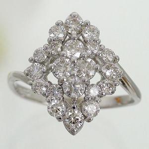 ダイヤモンド リング 1ct 指輪 プラチナ900 pt900 フラワー リング レディース ジュエリー アクセサリー|eternally