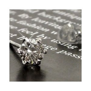 片耳ピアス ダイヤ ダイヤモンド 0.2ct プラチナ900 pt900 ソリティア 片方ピアス メンズ セカンドピアス 一粒 片側 レディース|eternally