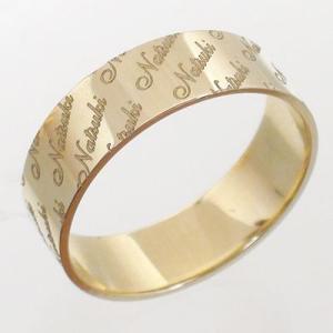 ネームリング k10ゴールド 10金 指輪 イニシャル 名前 オリジナル レディース ジュエリー アクセサリー|eternally