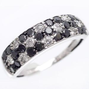 ダイヤモンド リング ブラックダイヤモンド 1ct リング 指輪 k18ホワイトゴールド 18金 レディース アクセサリー|eternally
