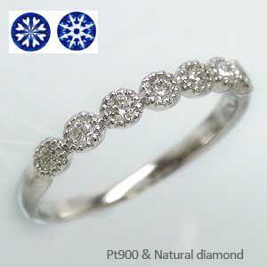 プラチナ900 pt900  ハートアンドキューピッド ダイヤモンド リング エタニティリング 指輪 レディース ジュエリー アクセサリー|eternally